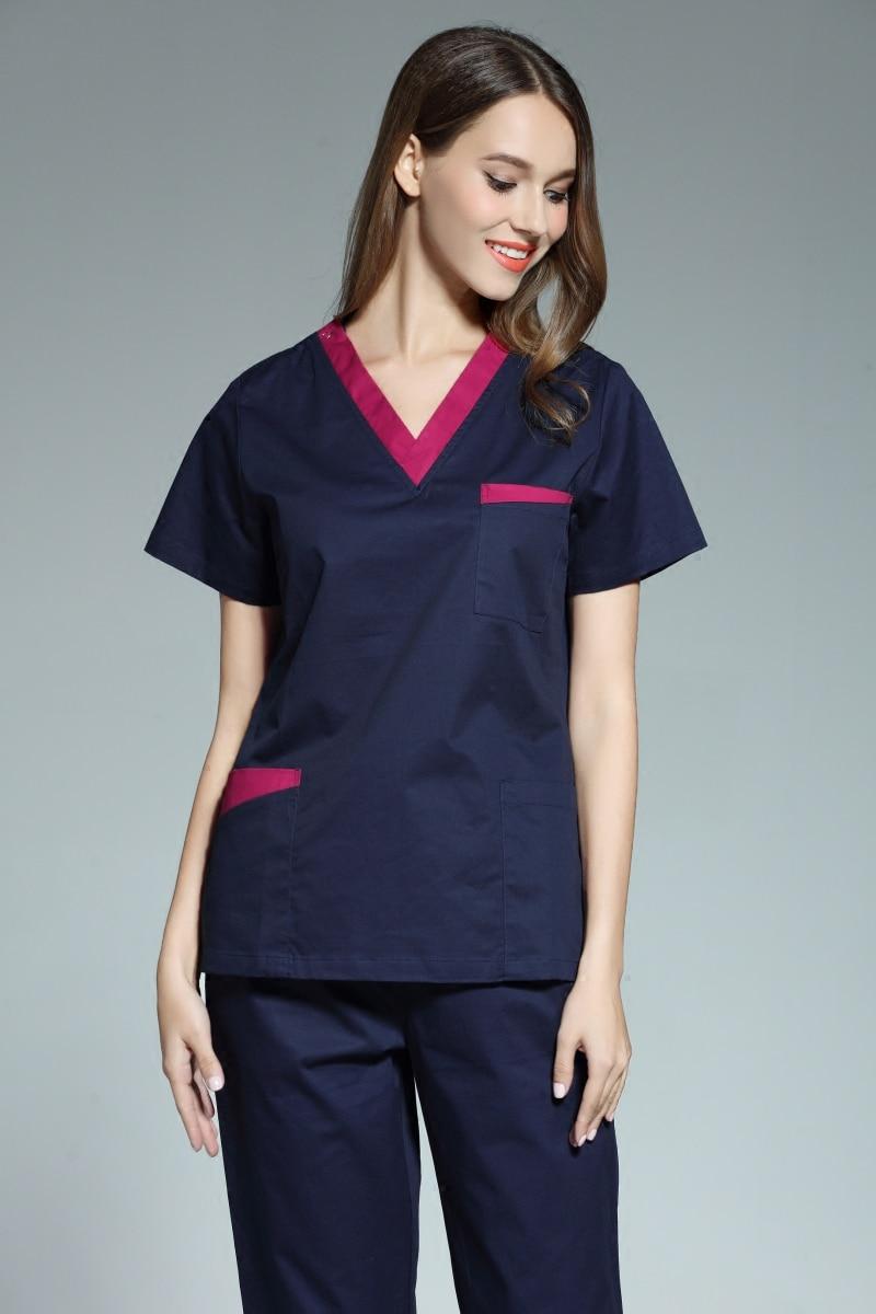 New arrival women hospital medical uniform scrub dental for Spa uniform policy