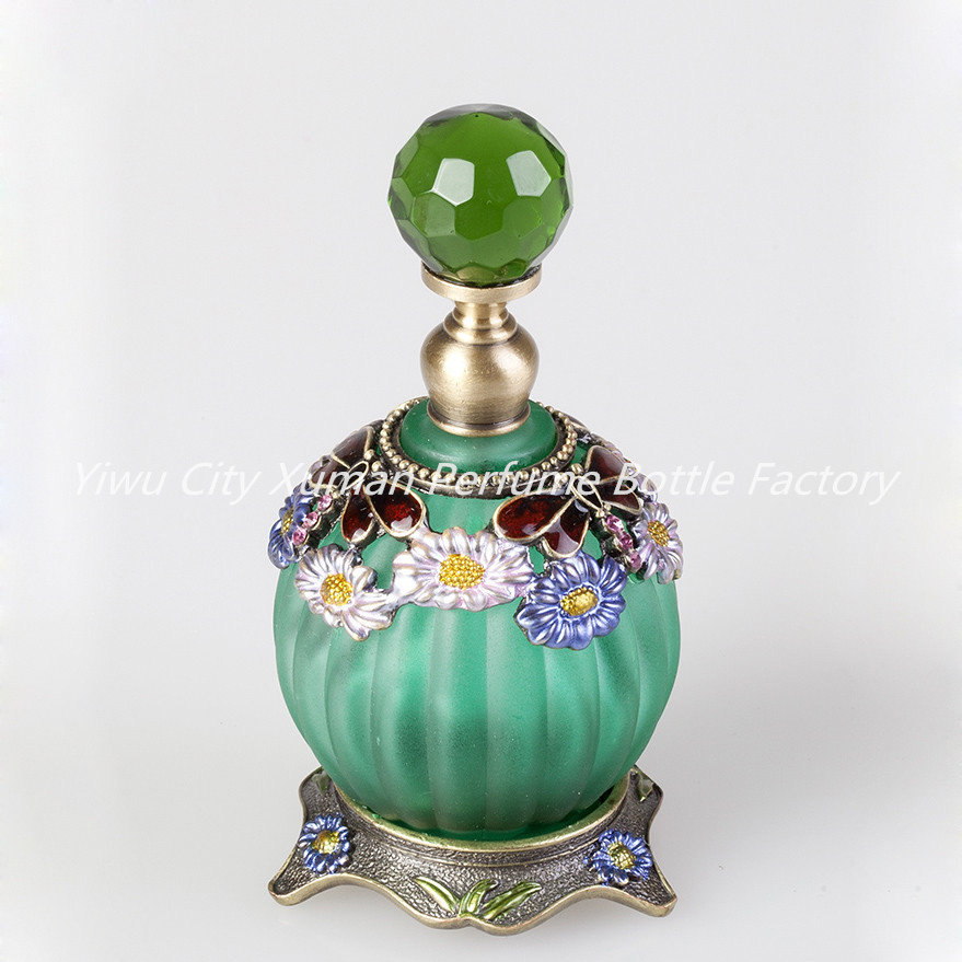 60 PCS/CTN Retro Metal Glass 30ml Empty Pumpkin Container Refillable Portable Gift Perfume Bottle Home Decoration