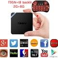 T95N 5 unids 1G/2G 8G 2G 16G Android 6.0 Amlogic S905X CPU Cortex-A53 Mali-450 GPU 3D WiFi Totalmente Carga Kodi Reproductor de Medios de Streaming