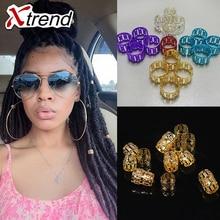 Golden And Silver Mixed Hair Braid Dread 100Pcs/lot Dreadlock Beads Micro Rings Adjustable Hair Braid Cuff Clip 8mm Hole