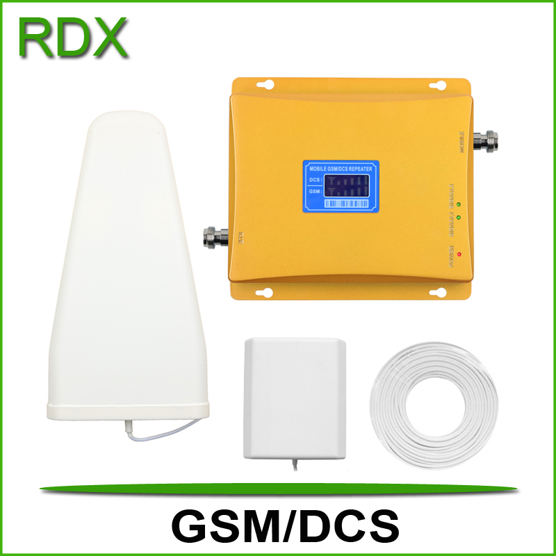 Nouvel écran lcd double bande gsm 4g booster pour téléphone mobile gsm900 4g dcs1800 répéteur cellulaire avec antenne de panneau intérieur en vente