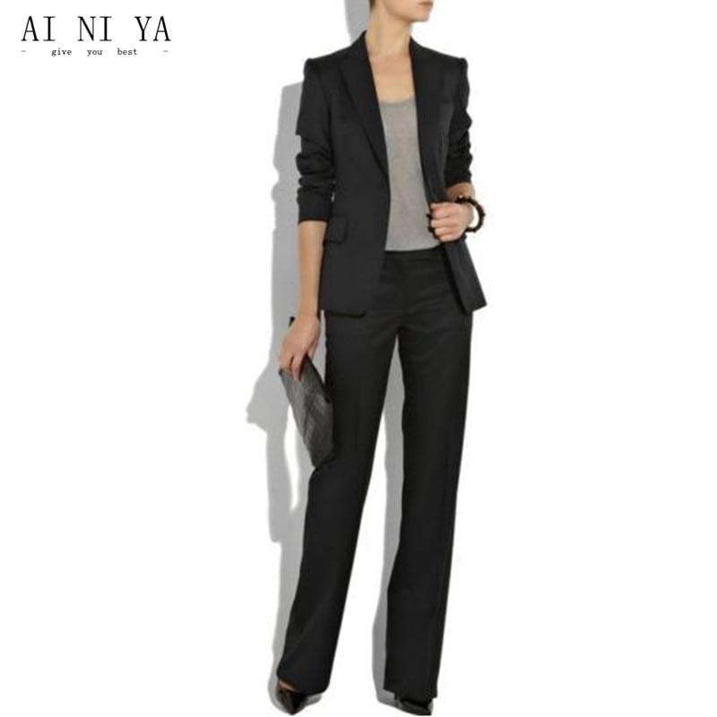 Women Pant Suits Black Ladies Custom Made Women Formal ...