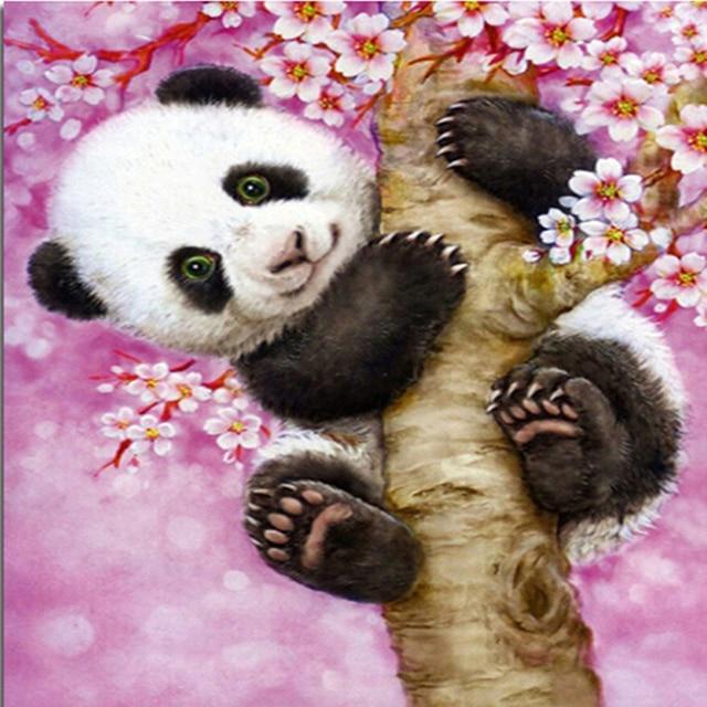 Home Beauty 5D Diy Diamond Mosaic Picture of Rhinestones Embroidery Diamond Painting Cross Stitch Animals Panda Home Paintings