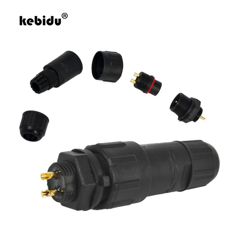 Fashion Style Kebidu New M14 7 Pin 7 Pole Industrial Ip68 Waterproof Connector Cable 7pin Panel Mount Wire Connector Adapter Plug For Led Lamp Computer Cables & Connectors