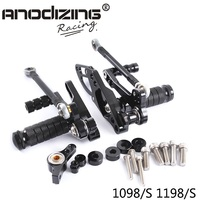 Full CNC Aluminum Motorcycle Adjustable Rearsets Rear Sets Foot Pegs For DUCATI STREETFIGHTER 1098/S 1198/S 2011 2014