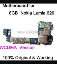 Well  test  before shipping unlocked Original  Motherboard  Nokia For  Nokia Lumia 620 WCDMA motherboard main board  Logic Board