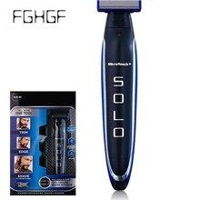 USB Перезаряжаемые электробритва 3 in1 бритвенные головки Бритвы Уход за лицом Для мужчин триммер для бороды парикмахера машина