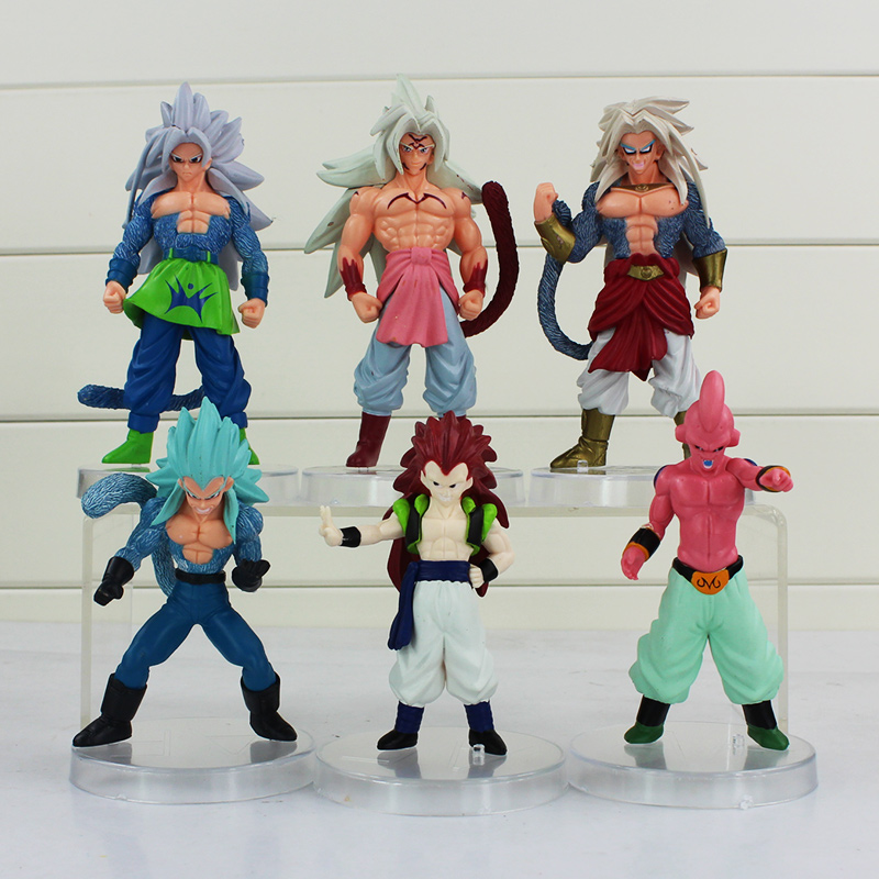 6pcs/lot Anime Dragon Ball Z PVC Action Figure Goku Son Magin Buu Figurine Kids Toys Collectible Model Doll Magic Gifts