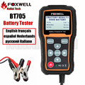 FOXWELL BT705 BT-705 12V Car Battery Analyzer Tester Directly Detect Bad Car Cell Battery for Garage Workshop Diagnostic-tool