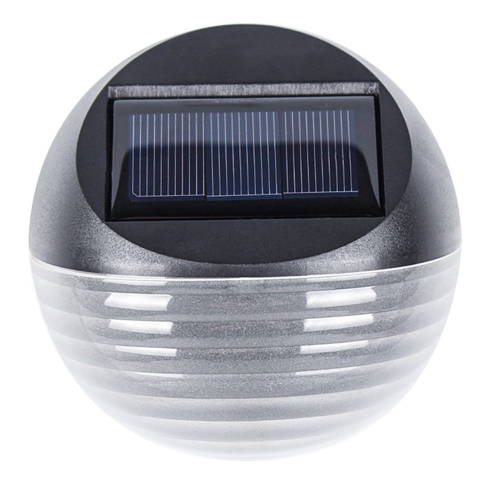 Outdoor Wall Mounted Garden Landscape Fence 6 LED Light Yard Lamp Solar Powered
