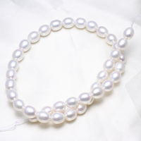 Rice Cultured Freshwater Pearl Beads Trendy Fashion Jewelry Natural White 9 10mm Sold Per Approx 15