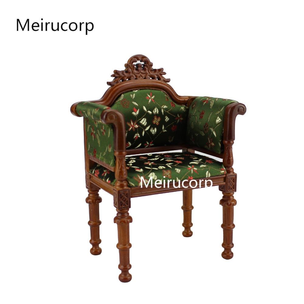 1/6 scale Fine Dolls Furniture walnut Hand Carved Fabric chair fine furniture стол журнальный