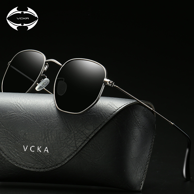 6fcb6fb10173 VCKA Vintage Brand Designer Hexagonal Sunglasses Women Men Retro Driving Polarized  Sun Glasses Female Male oculos de sol UV400-in Sunglasses from Men s ...