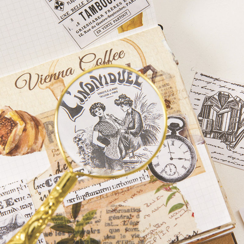 45pcs Modern Life Travel Stickers Vintage Decor Adhesive Sealing Stickers For Decorations Scrapbooking Diary Diy Album Papeterie