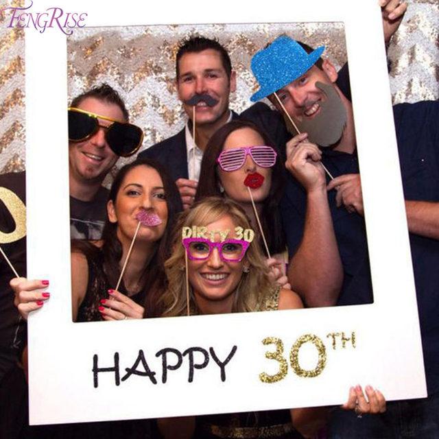 Tienda Online Fengrise Feliz cumpleaños 30th 40th Photo Booth props ...