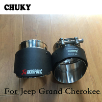 For Jeep grand cherokee Atenza CX5 Cadillac ATS Toyota Prado Mazda CX 5 6 Audi Q5 Carbon Fiber Akrapovic Tips Car Exhaust Pipes