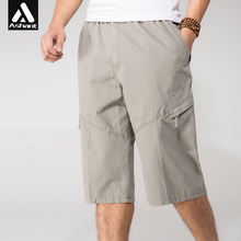 Männer Casual Cargo-Shorts Großen Größe 4XL 5XL 6XL 40 28 2017 neue Männliche Sommer Marke Kleidung Militärische Taktische Lose Fit Schwarz Capris