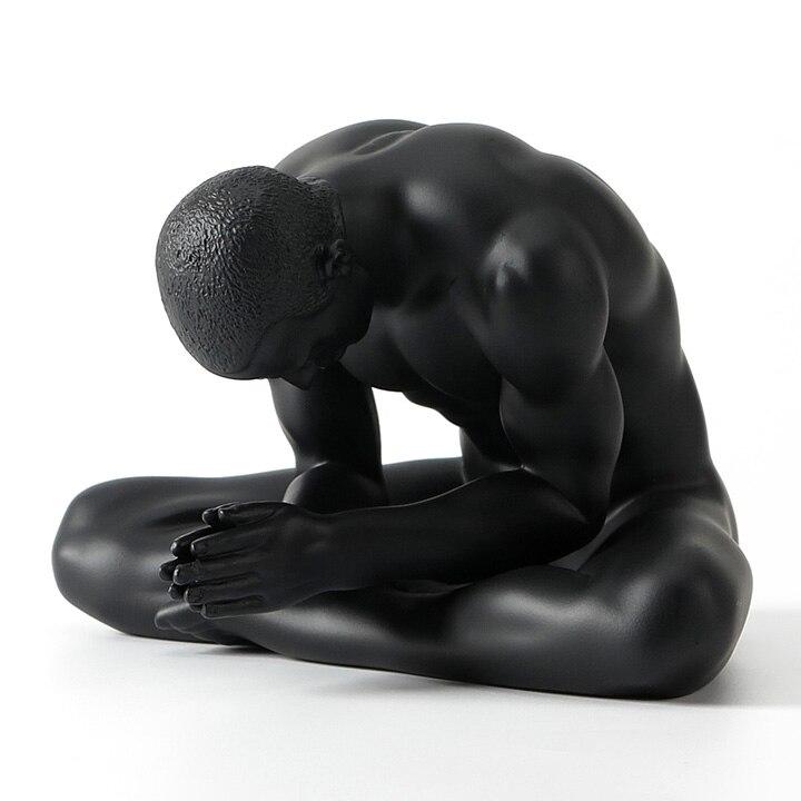 손 조각 아트웍 크리 에이 티브 현대 미술 누드 남성 장식품 수지 조각 장식 소프트 복장 카페 홈 가구-에서동상 & 조각품부터 홈 & 가든 의  그룹 2