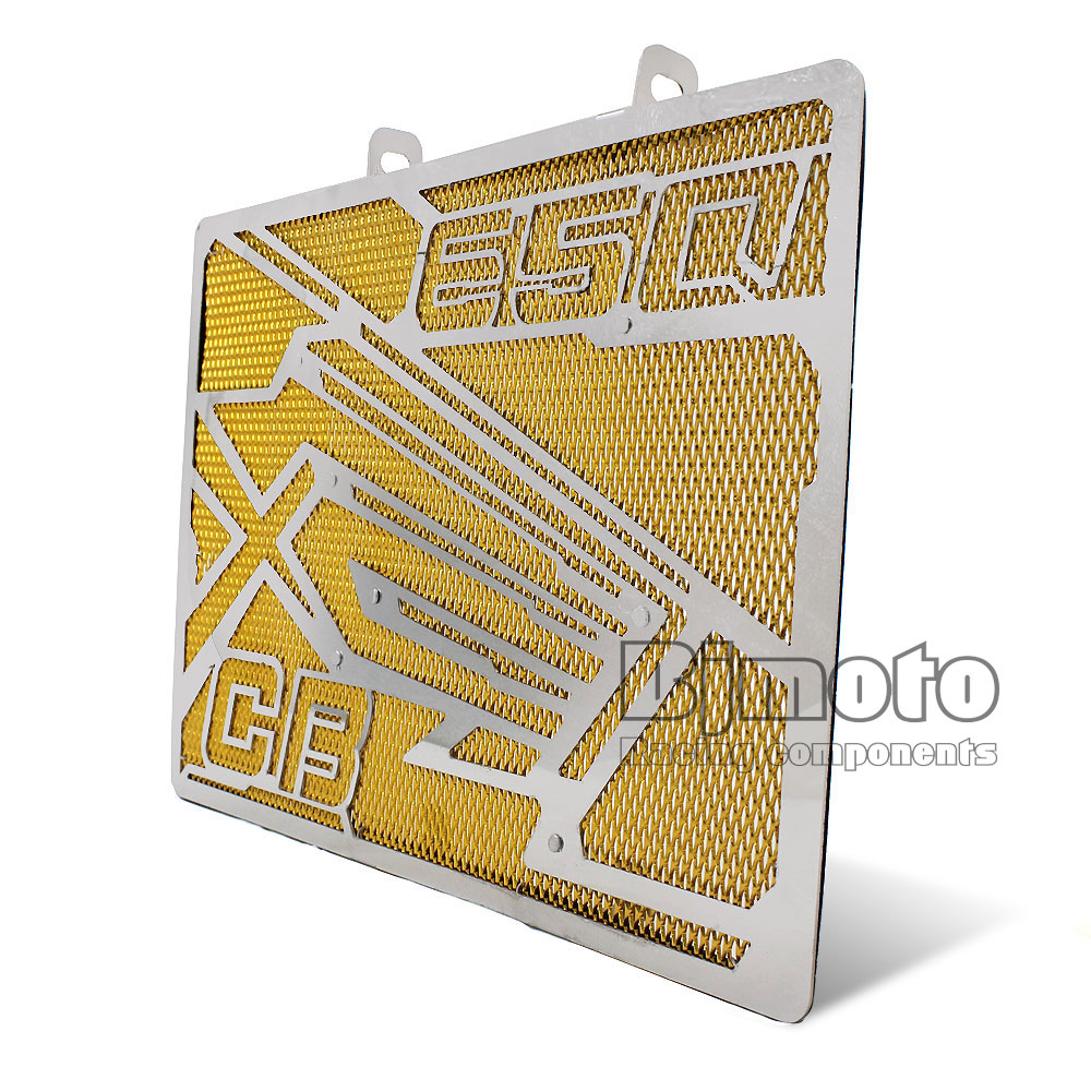 RG-HD001-GO For Honda CB650F 2014 2015 2016 2017 CBR650F 2014- 2017 Motorcycle Radiator Guard Protector Grille Grill Cover motorcycle radiator protective cover grill guard grille protector for honda cbr650f cb650f cbr cb 650 f 2014 2015 2016 2017