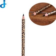 Fashion Eyebrow Pencil 2 Colors Cosmetic Eye Liner Shadow Pencil Makeup Eye Shadows Leopard Style Pen 2HY06