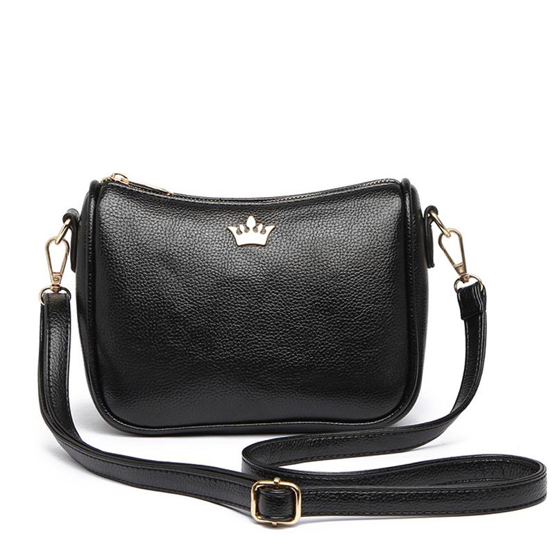 45ebb08e8131 Aliwood Brand Shoulder Bag Crown Leather Women's bags Designer Messenger  Bags Crossbody Bags High Quality Half moon Handbags-in Shoulder Bags from  Luggage ...