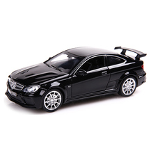 C63 Diecast Alloy Toy Metal Cars 1:32 Scale Simulation Pull Back Cars Model with Sound and Light Children Collection Auto Toys