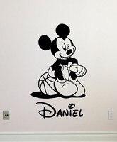 Mickey Mouse Wall Decal Boy Sport Basketball Ball Custom Name Cartoons Vinyl Sticker Baby Girl Boy