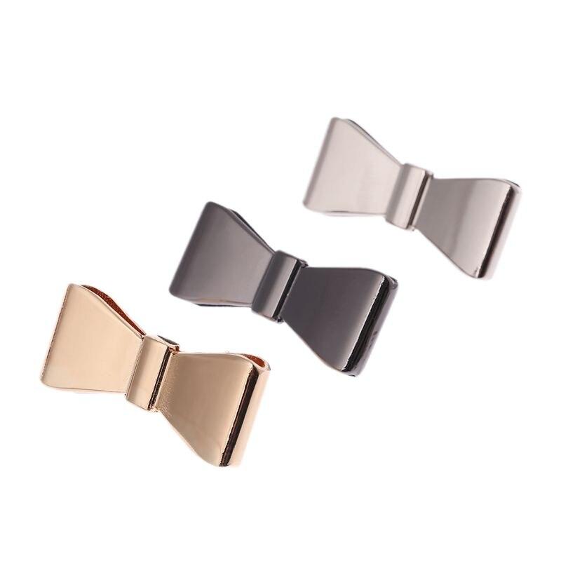 Metal Bowknot Decoration For Handbag Shoes Luggage Bag Decor Ornament Hardware DIY Accessory