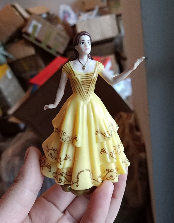 Disney Store Live Action Beauty and the Beast Gaston Nude Doll Molded Hair NEW