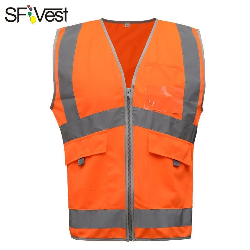High Visibility Mesh Reflective Safety Vest Logo Printing Free Shipping Safety Clothing Security & Protection