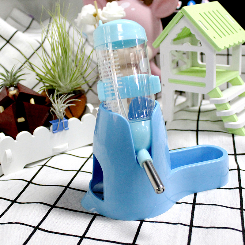 4 Colors Pet Feeding 80ML Small Animal Automatic Water Bottle Dispenser Pets Food Feeder Bowl For Hamster Squirrel