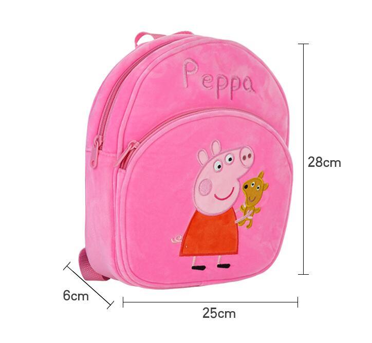 New Arrival Genuine PEPPA PIG peppa George plush backpack high quality Soft Stuffed cartoon bag Doll For Children kids toy  4
