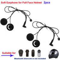 2 pçs acessórios da motocicleta intercom fone de ouvido macio & mic para fdcvb T-COMVB TCOM-SC colo T-REX moto capacete bt intercom