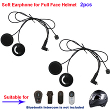 2pcs Motorcycle Intercom Accessories Soft Earphone Earpiece & MIC for FDCVB T-COMVB TCOM-SC COLO T-REX Moto Helmet BT Intercom