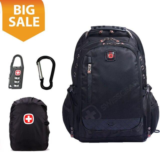 swissgear Man s 15.6 inch laptop backpack Multifunctional backpack Men s  Travel Bag schoolbag notebook computer bag tactical dc59b62415db1