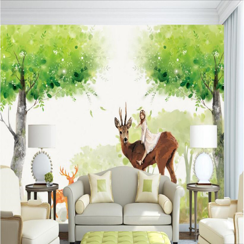 3d wall murals photo wallpaper forest fantastic woods elk wall paper for living room bedroom 3d wall murals home decor wallpaper european church square ceiling frescoes murals living room bedroom study paper 3d wallpaper