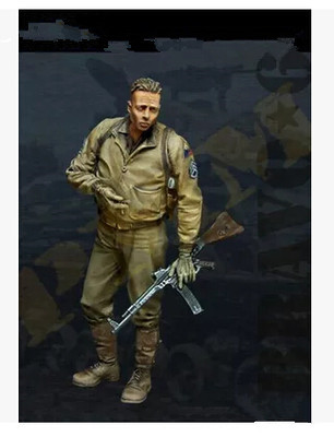 pre order-(General quality version) Resin Kits 1/35 Scale US soldier of Brad Pitt Resin Model pre order general quality version resin model 1 32 american indian native sioux warriors 54mm diy resin kits figure model