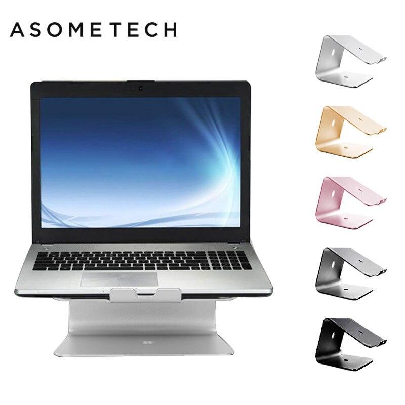 Support de bureau en Aluminium pour ordinateur portable Macbook Air Pro ergonomie Support de colonne montante de refroidissement pour Support d'ordinateur portable de 11-17 pouces