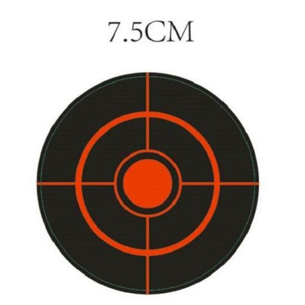 250pcs/Roll Shooting Adhesive Targets Splatter Reactive Target Sticker 7.5cm Shooting Practice Stickers