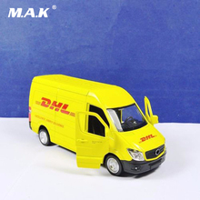 Billiga Kid Toys 1:36 Kommersiell Fordonsformad bilmodellleksaker för Express DHL Bilbil Diecast Model Toy Kids Gift