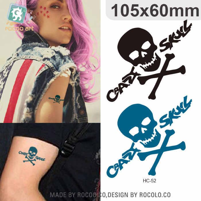 Rocooart HC52-61 Freddo Del Cranio Impermeabile Tatuaggio Temporaneo Adesivi Cute Elephant Uccello Flash Falso Del Tatuaggio Taty Per La Femmina Maschio A Mano