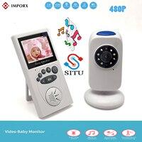 "IMPORX Wireless 2.4""LCD Audio Nanny Video Baby Monitor GB101Radio Music Intercom IR 24h Portable Baby Camera Baby Walkie Talkie"