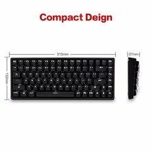 Drevo gramr 84 ключ с подсветкой edition десять Key меньше Механическая игровая клавиатура коричневый переключатель Белый
