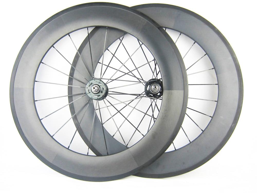 700C 88mm Rear Clincher Carbon Wheels Fixed Gear Single Speed Hub 3K Track Wheel