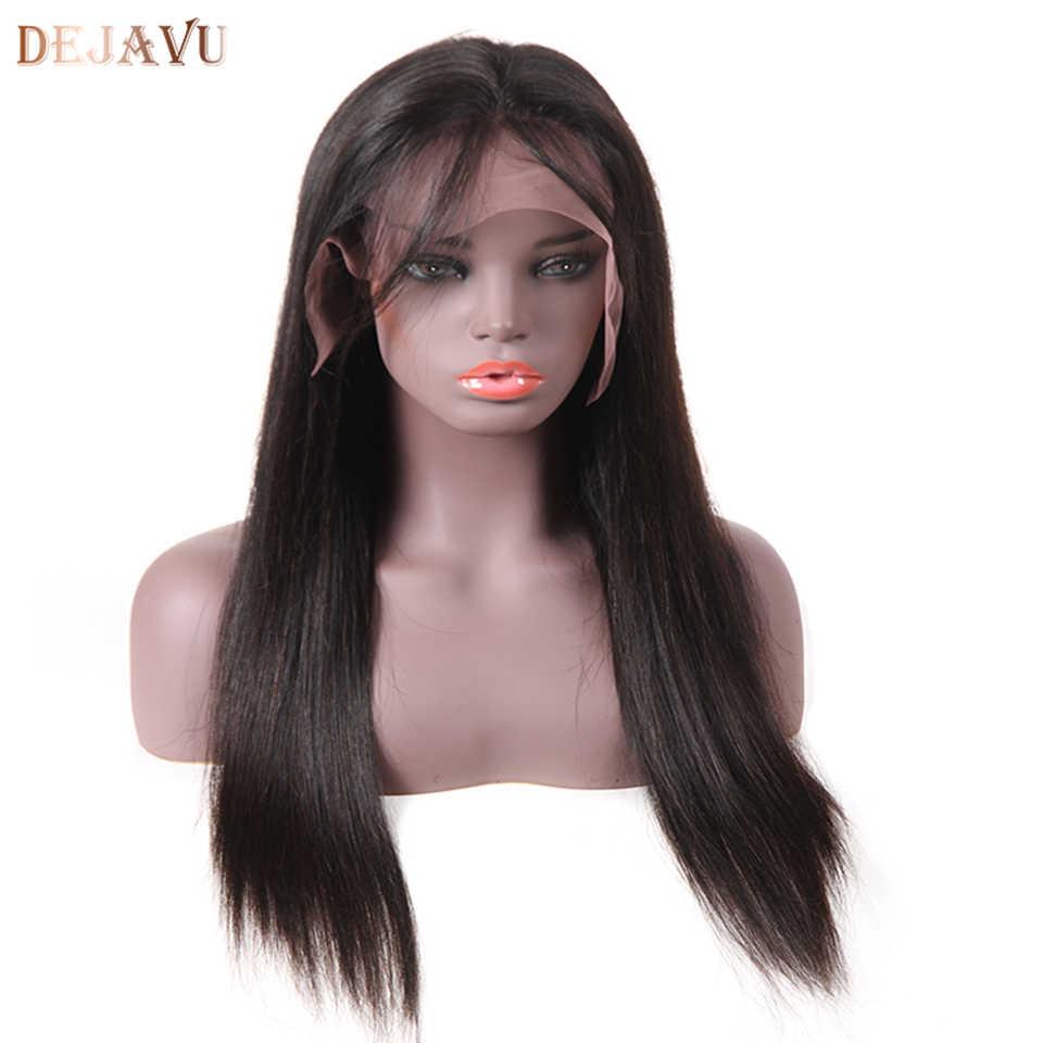 Бразильских волос парики прямо Синтетические волосы на кружеве натуральные волосы парики Glueless Синтетические волосы на кружеве al парик предварительно сорвал с волосы младенца Волосы remy дежавю