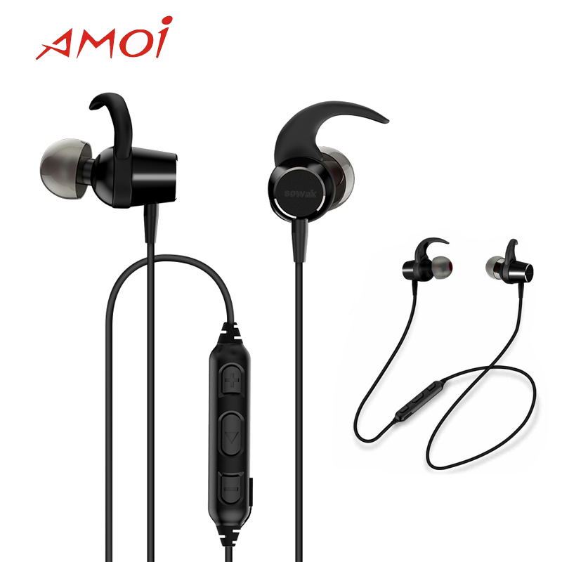 Amoi Original Bluetooth Wireless F11 Headset With Bluetooth 4 1v For Samsung S9 S9plus Noise Reduction Waterproof Sport Earphone Bluetooth Earphones Headphones Aliexpress