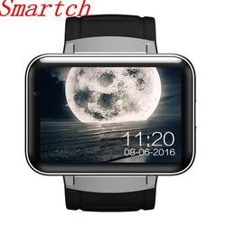 Smartch DM98 Bluetooth Astuto Della Vigilanza del Android 4.4 3G Del Telefono Smartwatch MTK6572 Dual Core 1.2 GHz 4 GB di ROM Della Macchina Fotografica WCDMA WiFi GPS