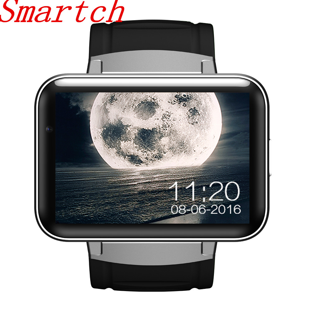 Smartch DM98 Bluetooth montre intelligente Android 4.4 3G Smartwatch téléphone MTK6572 double coeur 1.2 GHz 4 GB ROM caméra WCDMA WiFi GPS