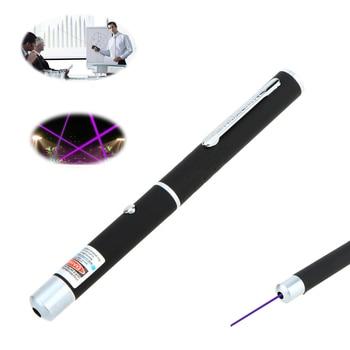 Nouveau stylo à pointe unique en forme de stylo 5mW LED violet/rouge/vert pointeur Laser pour la formation professionnelle led light pen -