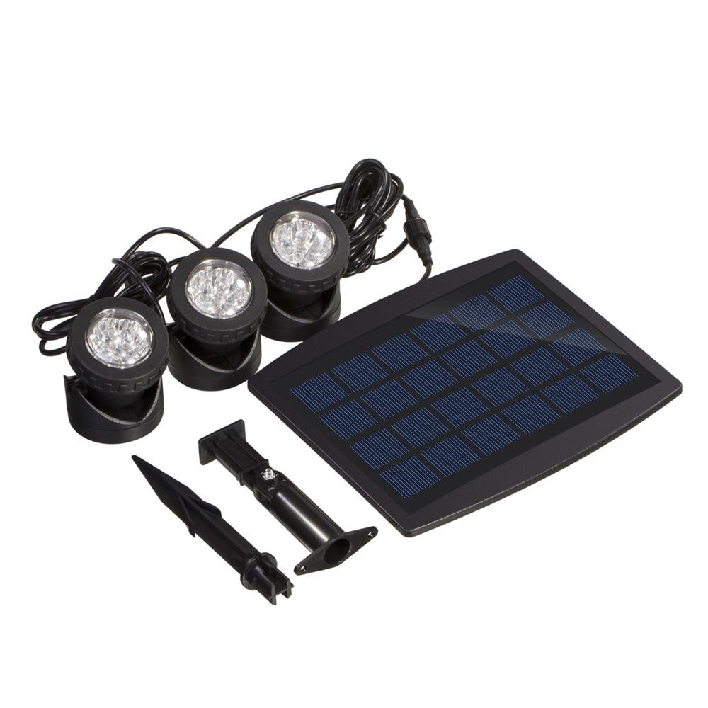 Solar Powered Led Outdoor Lighting Garden Led Lawn Lamp Spotlight 18 LED Projector Light Lawn Light Waterproof 6V Landscape Bulb youoklight 0 5w 3 led white light mini waterproof solar powered fence garden lamp black